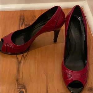 Patent leather heels Red and Black